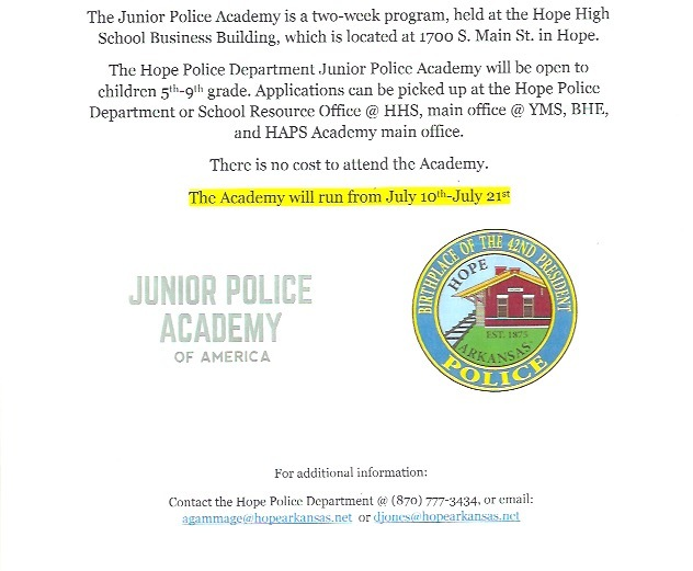 HPD Junior Police Academy