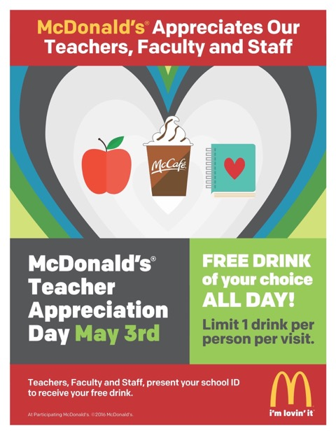 McDonald's recognizes teachers